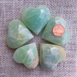 BLUE/GREEN CALCITE HEARTS #5