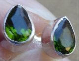 STERLING SILVER CHROME DIOPSIDE EARRINGS #3