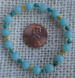 SOOTHER BRACELET--FOR ANXIETY (CHRYSOCOLLA AND AMAZONITE) #2