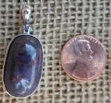 STERLING SILVER RUBY OR SAPPHIRE PENDANT #1