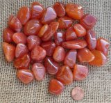 Carnelian Crystals, Shapes, and Tumbles