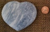 BLUE CALCITE HEART #5