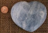 BLUE CALCITE HEART #6