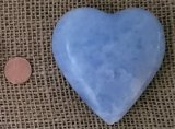 BLUE CALCITE HEART #3