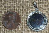STERLING SILVER COVELLITE PENDANT #13