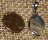 STERLING SILVER DENDRITIC AGATE PENDANT #7