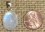 STERLING SILVER RAINBOW MOONSTONE PENDANT #39