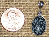 STERLING SILVER SNOWFLAKE OBSIDIAN PENDANT #4
