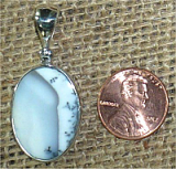 STERLING SILVER MERLINITE PENDANT #21