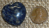 STERLING SILVER SODALITE PENDANT #15