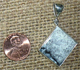 STERLING SILVER MERLINITE PENDANT #28