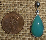 STERLING SILVER GEM SILICA PENDANT #5