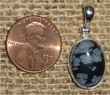 STERLING SILVER SNOWFLAKE OBSIDIAN PENDANT #10