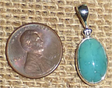 STERLING SILVER GEM SILICA PENDANT #9