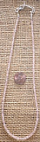 STERLING SILVER MORGANITE BEAD NECKLACE #7