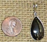 STERLING SILVER GOLDEN SERAPHINITE PENDANT #12