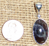 STERLING SILVER DAY AND NIGHT (IOLITE/SUNSTONE) PENDANT #13