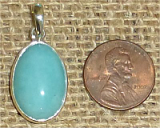 STERLING SILVER AMAZONITE PENDANT #27