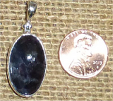 STERLING SILVER DAY AND NIGHT (IOLITE/SUNSTONE) PENDANT #17