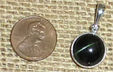STERLING SILVER CAT'S EYE ENSTATITE PENDANT #7