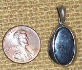 STERLING SILVER COVELLITE PENDANT #19