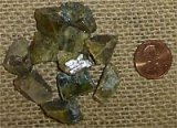 GOLD/GREEN SPHENE CRYSTALS #4