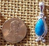STERLING SILVER CAVANSITE PENDANT #8