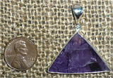 STERLING SILVER COLOR-ZONED AMETHYST PENDANT #6