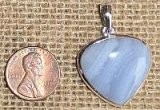 STERLING SILVER BLUE LACE AGATE PENDANT #18