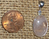 STERLING SILVER MORGANITE PENDANT #32