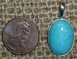 STERLING SILVER AMAZONITE PENDANT #24