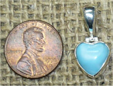 STERLING SILVER LARIMAR HEART PENDANT #29