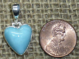 STERLING SILVER LARIMAR HEART PENDANT #44