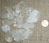 CLEAR/WHITE CALCITE ICICLES #1