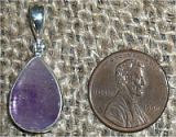 STERLING SILVER AMETHYST WITH HEMATITE PENDANT #21
