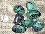 Ruby in Zoisite/Anyolite Shapes and Tumbles