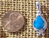 STERLING SILVER CAVANSITE PENDANT #6