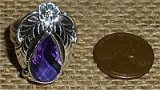 NATIVE AMERICAN STERLING SILVER AMETHYST RING #34
