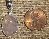 STERLING SILVER MORGANITE PENDANT #31