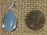 STERLING SILVER ANGELITE PENDANT #4