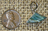 STERLING SILVER BLUE AND GREEN KYANITE PENDANT #18