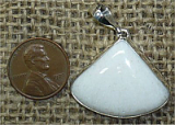 STERLING SILVER MORDENITE PENDANT #4