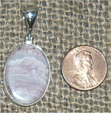 STERLING SILVER MOZARKITE PENDANT #3