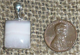 STERLING SILVER MANGANOCALCITE PENDANT #21