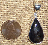 STERLING SILVER DAY AND NIGHT (IOLITE/SUNSTONE) PENDANT #16