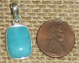 STERLING SILVER AMAZONITE PENDANT #26