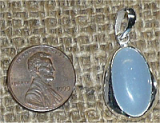 STERLING SILVER ANGELITE PENDANT #7
