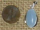 STERLING SILVER ANGELITE PENDANT #8