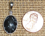 STERLING SILVER SNOWFLAKE OBSIDIAN PENDANT #5