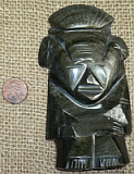 GOLD SHEEN OBSIDIAN MAYAN CHIEF OR PRIEST #6